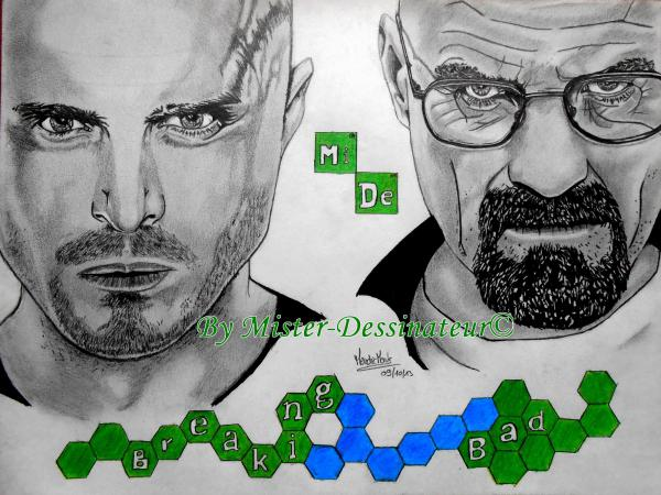 Bryan Cranston, Aaron Paul by MisterDessinateur45